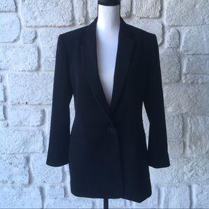 Theory Black One Button Blazer / Size 10